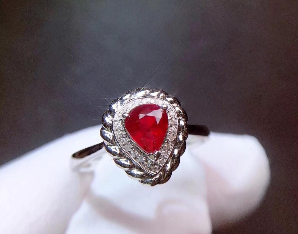 Ruby Ring Pure 18 K Gold Jewelry Real Natural 0.72ct Red Ruby Diamond Jewelry Anniversary Females Rings for Womens Fine RingsRuby Ring Pure 18 K Gold Jewelry Real Natural 0.72ct Red Ruby Diamond Jewelry Anniversary Females Rings for Womens Fine Rings