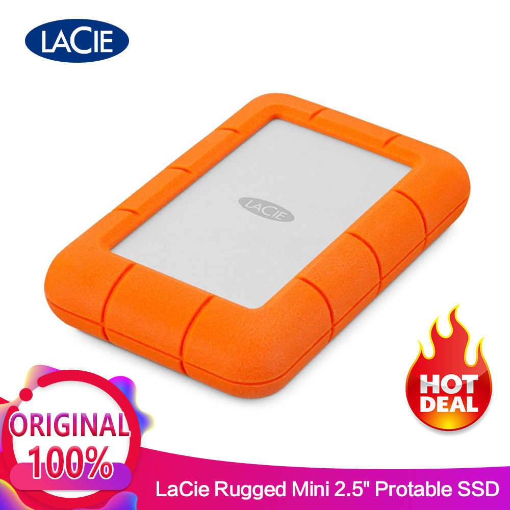 Seagate LaCie Rugged Mini Внешний жесткий диск 1 ТБ 2 ТБ 4 ТБ USB 3,0 5400 об/мин 2,5 Портативный жесткий диск 100% 0riginal