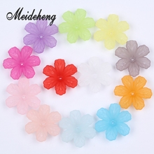 29x32mm Free Shipping Acrylic Six Petal Flower Design Spacer Bead For Jewelry DIY Craft Fortune Tree Making Materials Decoration