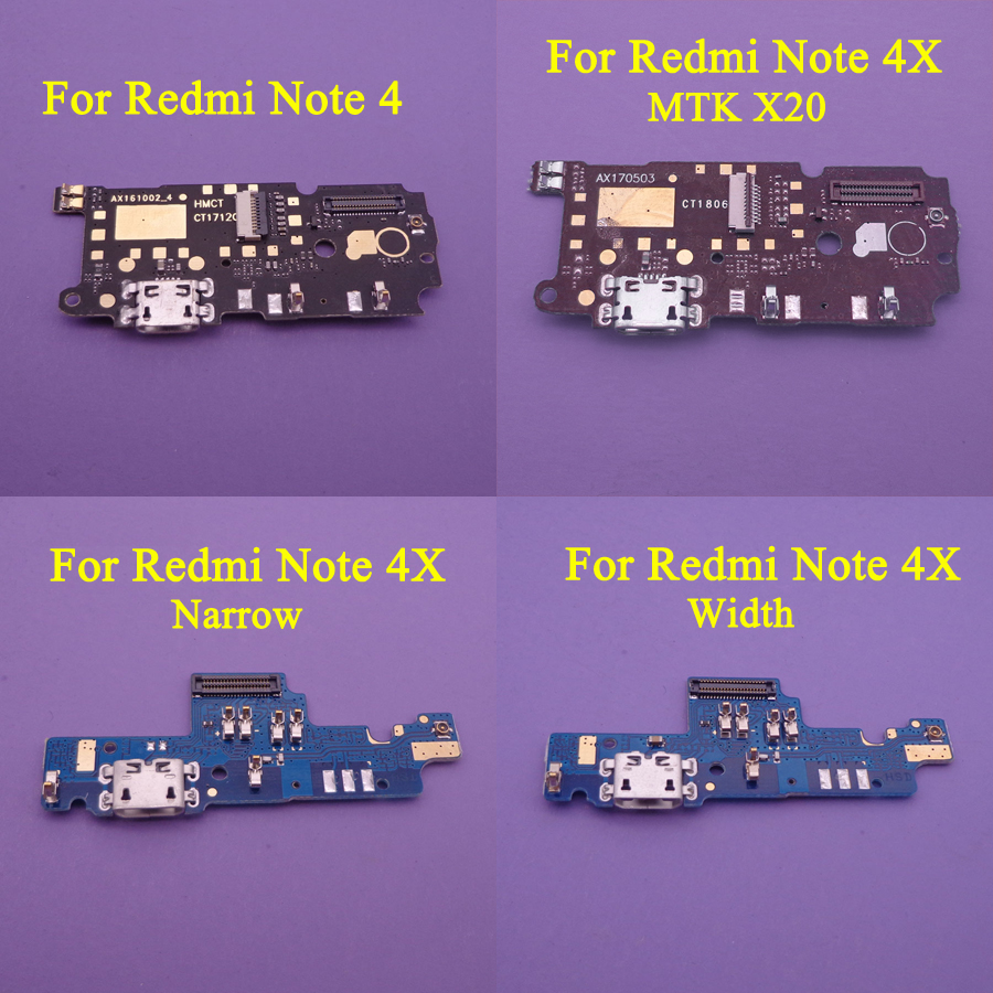 For Xiaomi Redmi NOTE 4 / Redmi NOTE 4X MTK X20 Narrow Width USB Charging Charger Port Dock Connector Plug Board Connector