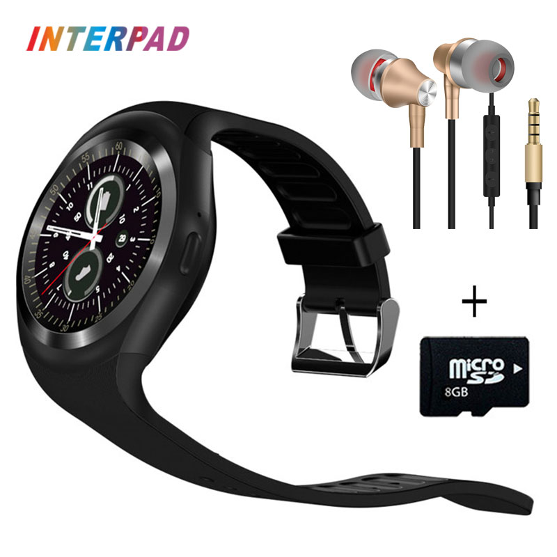imágenes para Nueva interpad y1 smart watch android apoyo tf sim whatsapp facebook con pasómetro gimnasio rastreador smartwatch para huawei lg