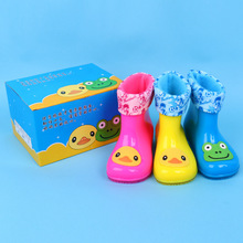 2016 Children Spring Autumn Boys Girls Baby Kids    Rain Boots Waterproof Shoes Children light shoes LED