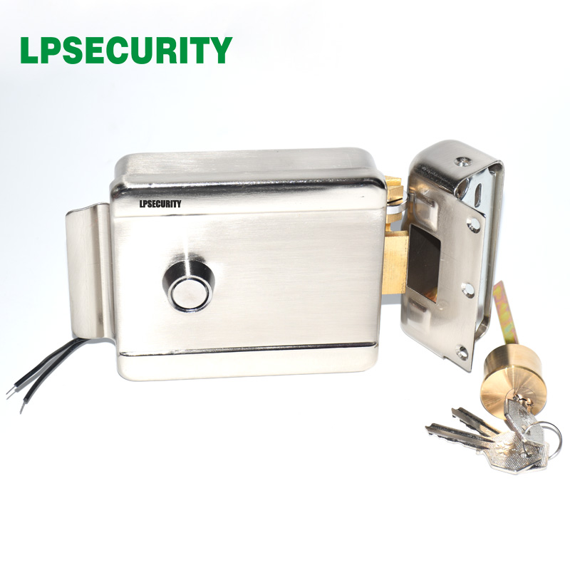 LPSECURITY Electric Lock Electronic Door Lock For Video Intercom Doorbell Door Access Control System Video Door Phone