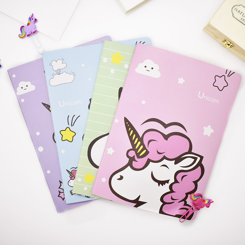 Creative Cute Kawaii Unicorn Notebook Diary Cute Kawaii Book With Lined Paper For Kids Korean Stationery Student все цены