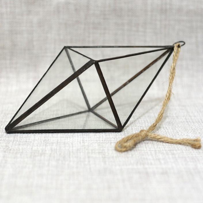 Diy Decor Accessories Glass Vase Hanging Geometric Terrarium Micro