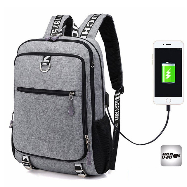 Men's backpack Male Waterproof USB charging travel School Sport backpack oxford casual laptop backpack Casual For Men's bag Pack 2