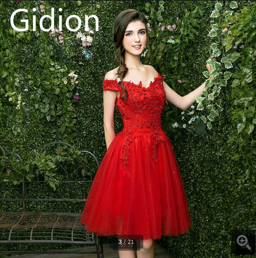 Petite Gowns For Weddings: Robe De Mariage Red Lace Short Wedding Dresses Cheap