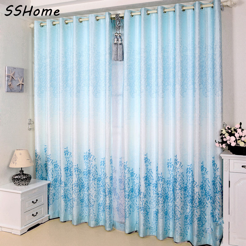 Rustic Style Window Curtains Anti Uv Curtain Finished