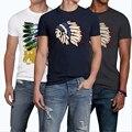 TOP Qualidade AF Anjoy & Fitch Marca Casual Camiseta 100% Algodão Tops & T T-shirt Dos Homens de Verão de manga curta Dos Homens De Fitness clothing