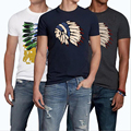 TOP Quality AF Anjoy&Fitch Brand Casual T Shirt 100% Cotton Tops & Tees Summer Men T-shirt short sleeve Men Fitness Clothing