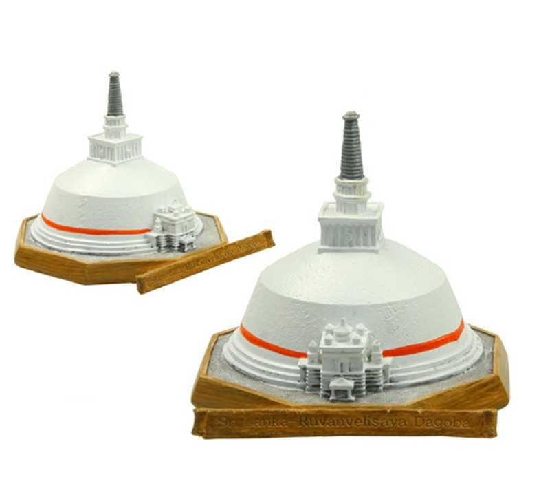 High Quality Sri Lanka Stupa Creative Resin Crafts World Famous Landmark Model Tourism Souvenir Gifts Collection Home Decor