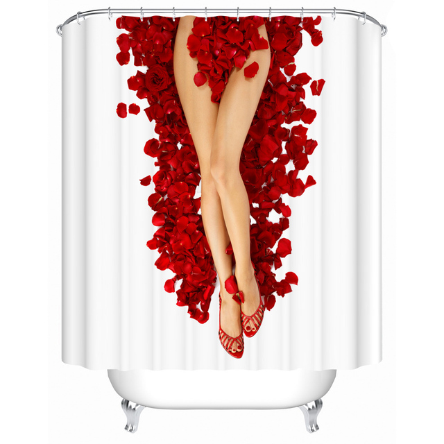 Sexy legs bathroom shower curtain mildew thick waterproof polyester shower curtain  partition curtain bath curtain dressing room
