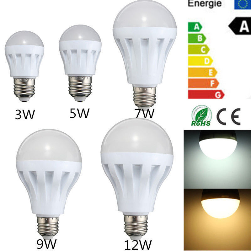 Furniture Smart LED E27 5W 7W 9W 12W Emergency Light Bulb Rechargeable Intelligent Lamp Furniture Accessories стоимость