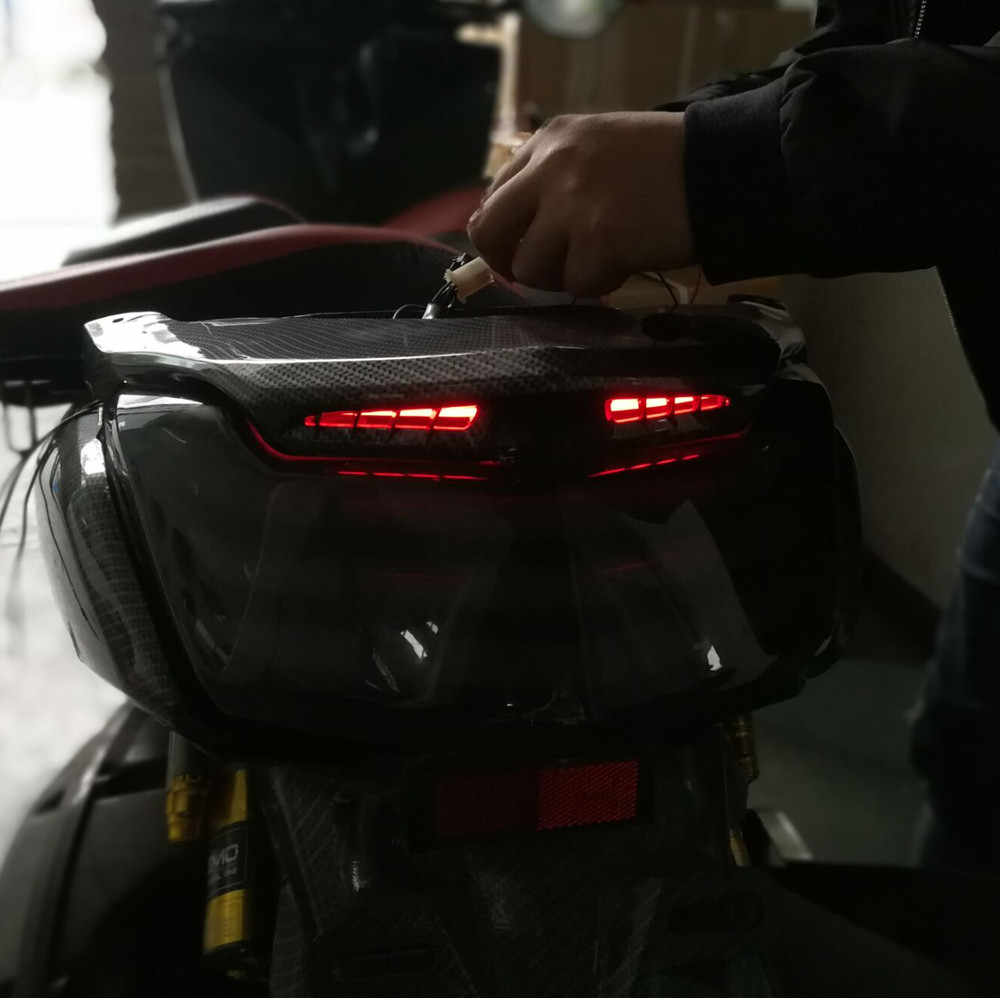 Modified motorcycle parts rear lamp taillight taillamp tail light LED cover  shell lampshield for YAMAHA NMAX 155 NMAX155 NMAX125