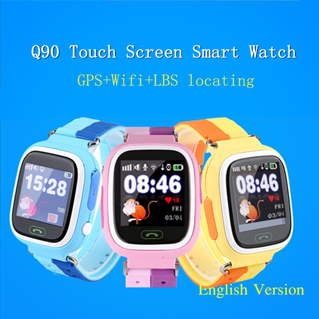 GPS Q90 Touch Screen WIFI Positioning Smart Watch Children SOS Call Location Finder Device Anti Lost Reminder Baby Kids Watches