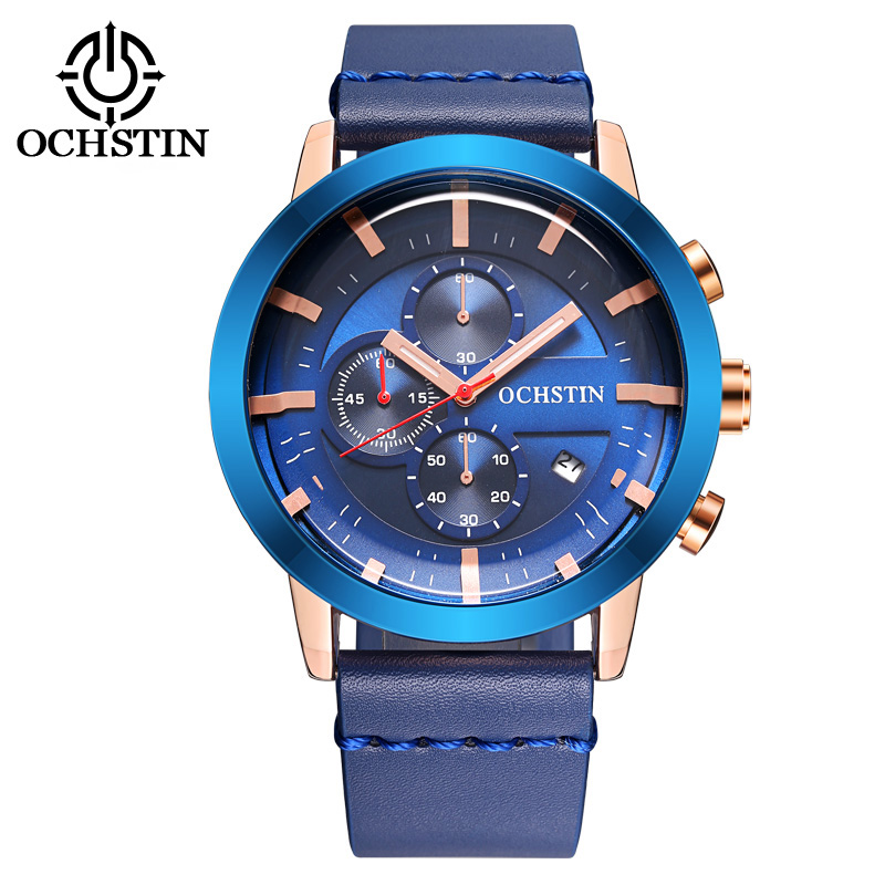 OCHSTIN Men sport leather Watch 30M Waterproof Top brand luxury Military Quartz Watches relogio masculino Clock male Wristwatch new 2017 men watches luxury top brand skmei fashion men big dial leather quartz watch male clock wristwatch relogio masculino