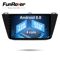 Funrover 2G+32G 2 din android 8.0 car dvd for VW Volkswagen Tiguan 2017 2018 car radio gps naviagtion with canbus wifi steering