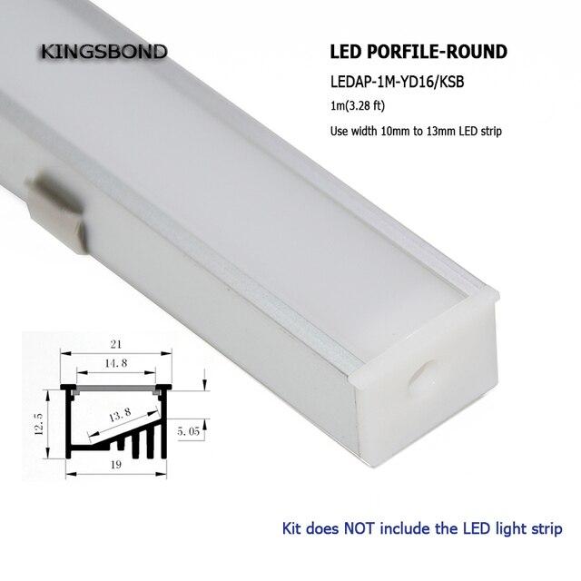 10 stks 1 m aluminium LED profiel aluminium kanaal hoek verlichting ...