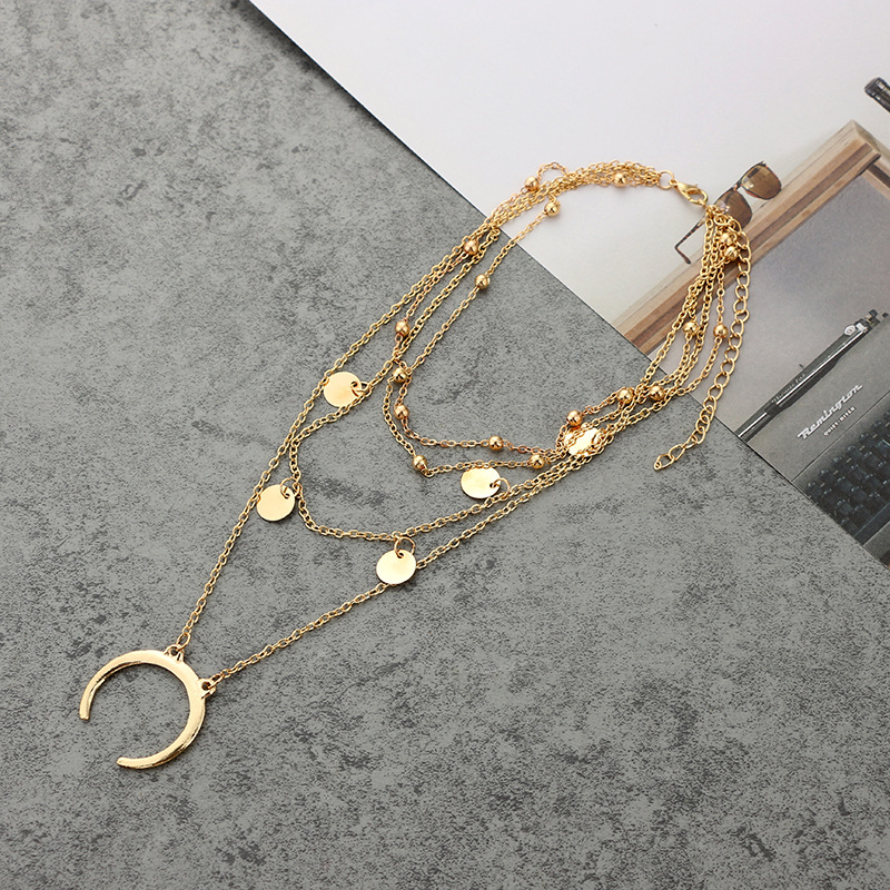 Street Charm Copper Heart Multilayer Clavicle Necklace in Pendant Necklaces from Jewelry Accessories