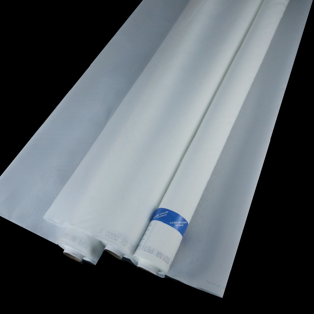 43T/53T/64T/72T/80T/100T/120T White Polyester Silk Screen Printing Mesh 127cm Width 1 Meter  Free Shipping To Most Countries