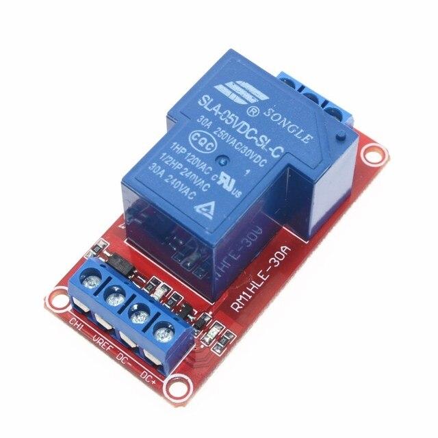 5 V 30A A due vie isolamento modulo relè Ad Alta/basso livello di trigger 5 V 30A-Channel Modulo di Relè + elettronica Con Accoppiatore Ottico