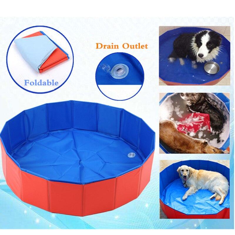 Nouveaux produits pour animaux de compagnie Super grand PVC pliable piscine été chien chat refroidissement lit bain baignoire pour tous les chats chiens M/L