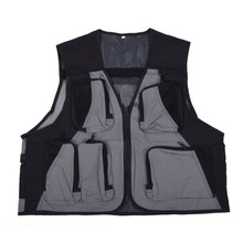 Outdoor Fishing Vest Breathable Mesh Multi Pockets Lightweight Zipper Jacket Vest Safety Life Waistcoat for Outdoor Fishing New