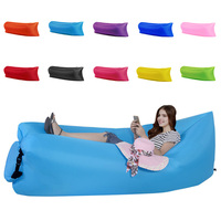 Inflatable Lounger Outdoor Or Indoor Air Sleep Sofa Couch Portable Furniture Waterproof Nylon Fabric Sleeping Compression