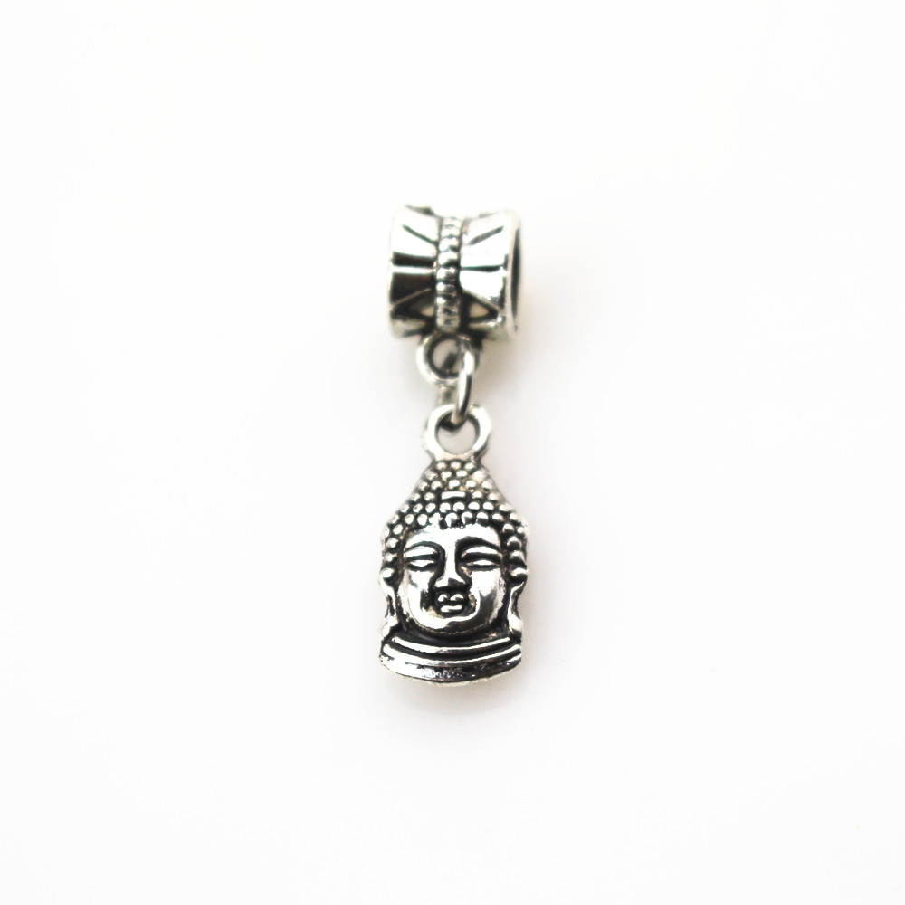 Free shipping 20pcs lot Buddha charms big hole pendant beads fit women font b bracelet b