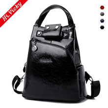 Vintage Women Backpack Black School Bags Teenage Girls Shoulder Bag Female PU Leather Backpacks Mochilas Mujer 2019 Bagpack цена в Москве и Питере