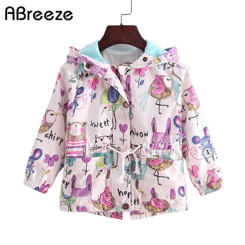 8254d70efb8 2018 Новый От 2 до 8 лет весенне-летние куртки для девочек Повседневная  Верхняя одежда