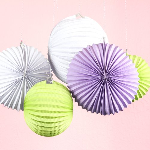 19cm Accordion Pleated Paper Lanterns Watermelon Lantern Wedding Party Birthday Showers Home Event  Decor