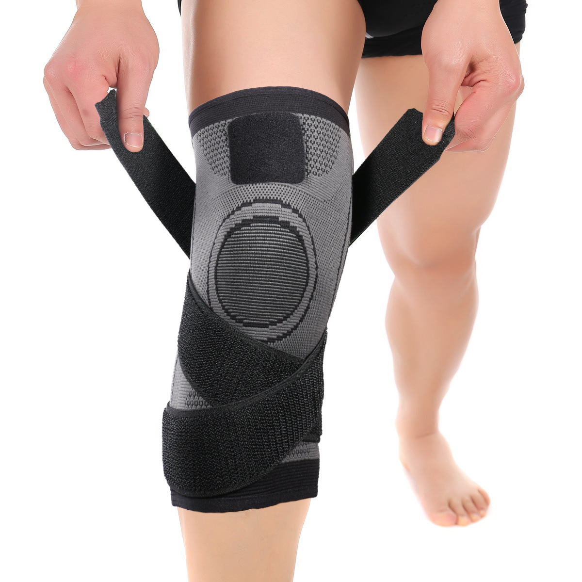 1PCS 3D Pressurized Fitness Running Cycling Bandage Knee Support Braces Elastic Nylon Compression Pad Sleeve For Basketball
