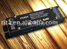 DMX512 декодер постоянное напряжение; Meets DMX512/1990; DC12-24V вход; 12 В/5A * 4 каналов выход, P/N: PX403