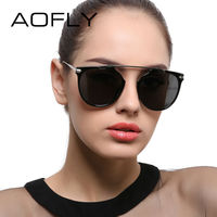 AOFLY Polarized Sunglasses Women Vintage Cat Eye Sunglasses Female Classic Retro Brand Design Glasses Lunette De