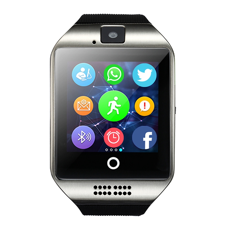 Q18 Smart Watch with Touch Screen Support Facebook SIM Card GSM Video Camera TF Card Bluetooth