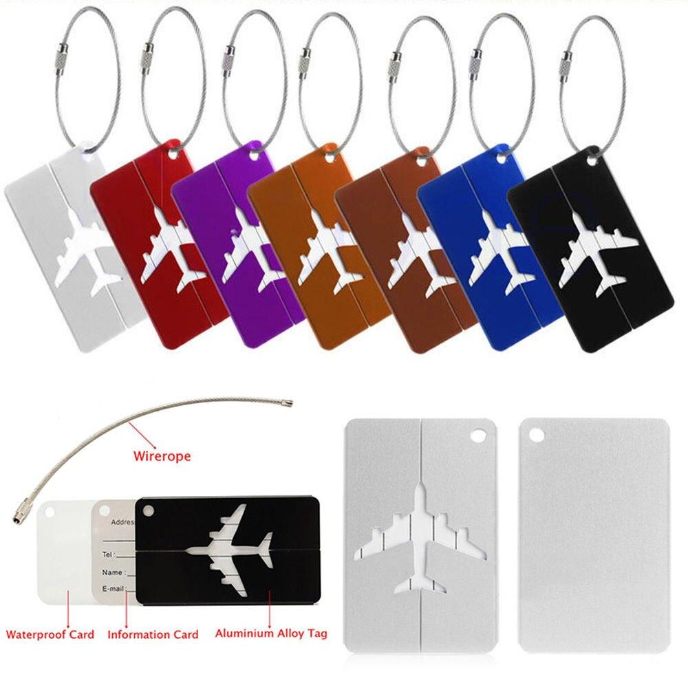 Travel Luggage Tag Name 1 Paket Isi 5 Spec Dan Daftar Usupso Lugage With Circle Koper Iskybob Baru Aluminium Identitas Alamat Nama Label Di Tas Parts Accessories