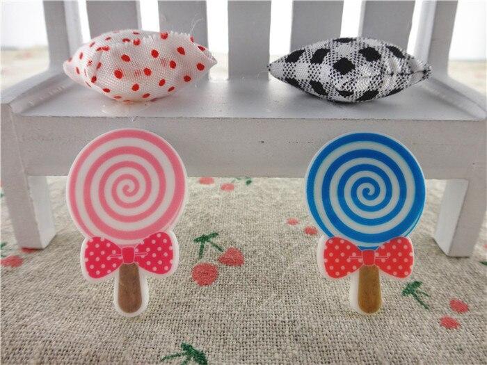 17092006, плоской задней плоское украшение из смолы lollipop 10 шт./лот около 36*24 мм плоская смола для ремесел аксессуары