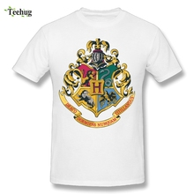 Fashionable Tee Hot Sale Tees O-neck Boy Hogwarts Alumni Tees Custom Cotton Tee Shirts Round Neck T-Shirt цена 2017