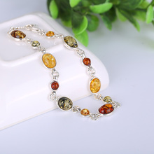 JIUDUO jewelry GenuinFashion, natural Baltic Amber Bracelet, bracelet, 925 silver inlaid amber hand ornament