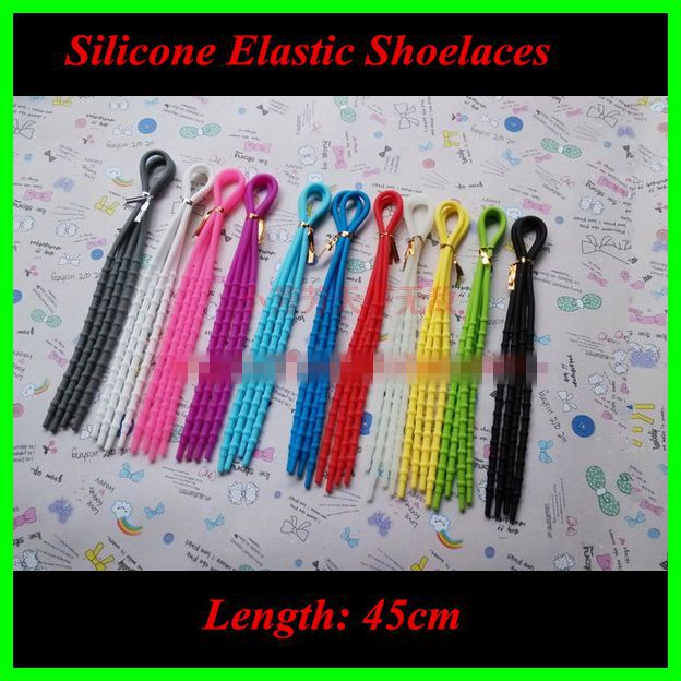 2018 New Arrival Silicone Shoelace 45cm Length Round Rope Laces For Sneaker  Sport Shoes Laces 5 Pairs For Sale 45 neon orange 5 16 flat shoelace for all basketball shoes