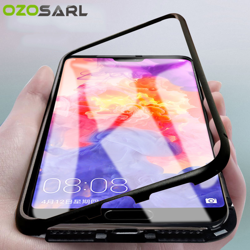 Magnetic Adsorption Case for Huawei P20 Case P20 Lite Honor 10 Nova 3 Mate 20 Magnet Tempered Glass Case for Huawei Mate 20 ProMagnetic Adsorption Case for Huawei P20 Case P20 Lite Honor 10 Nova 3 Mate 20 Magnet Tempered Glass Case for Huawei Mate 20 Pro