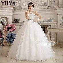 Free shipping YiiYa 2016 cheap handmade bridal wedding gowns pregnant princess wedding dress cheap Vestidos De Novia XXN086