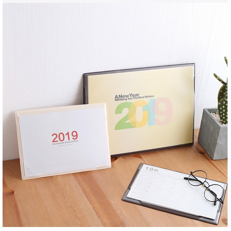 2019 Creative Office Desk Mat Table Desktop Calendar Daily Schedule Planner Mouse Pad 2018.07~2019.12