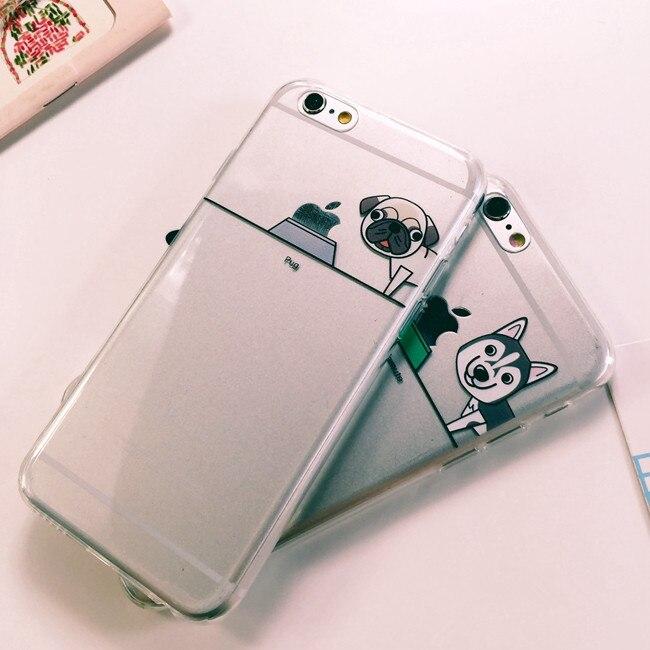 Чехол силиконовый с индивидуальным дизайном «Хаски» для iPhone