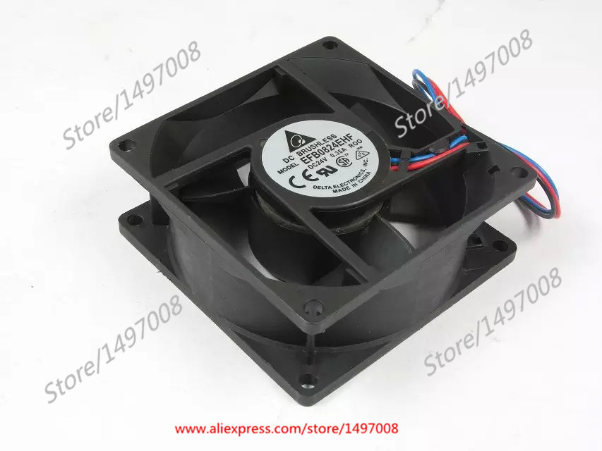 Delta EFB0824EHF R00 DC 24V 0.35A 80x80x32mm Server Square fan вентилятор охлаждения efb0824ehf 8032 24v 0 35a ct
