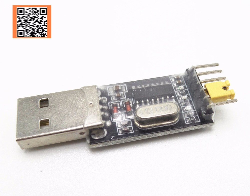 1Pcs free shipping USB to TTL converter UART CH340G CH340 3.3V 5V switch replace of CP2102 PL2303 module