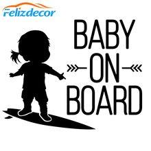 15*12 см Новое поступление ребенок на борту знак серфинг автомобиля Стикеры серфинг девушка искусство Виниловая пленка для оклеивания автомо...