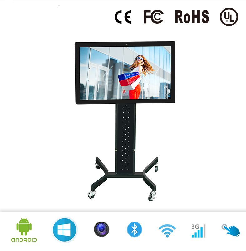 WiVi Siver/Black/White 32/42/55 Inch LCD Wall All In One Touch Screen PC,all In One Pc