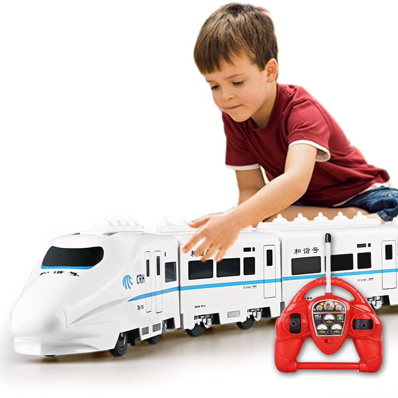Electric Remote Control Rail  757P-006 large scale 82cm 4W RC Car Model electricTrain For Kids Gift Railway Track Train Toy electric track racing car 1 43 620cm rail road roller double rc toy for boys gift kids toy cars educational toys for children